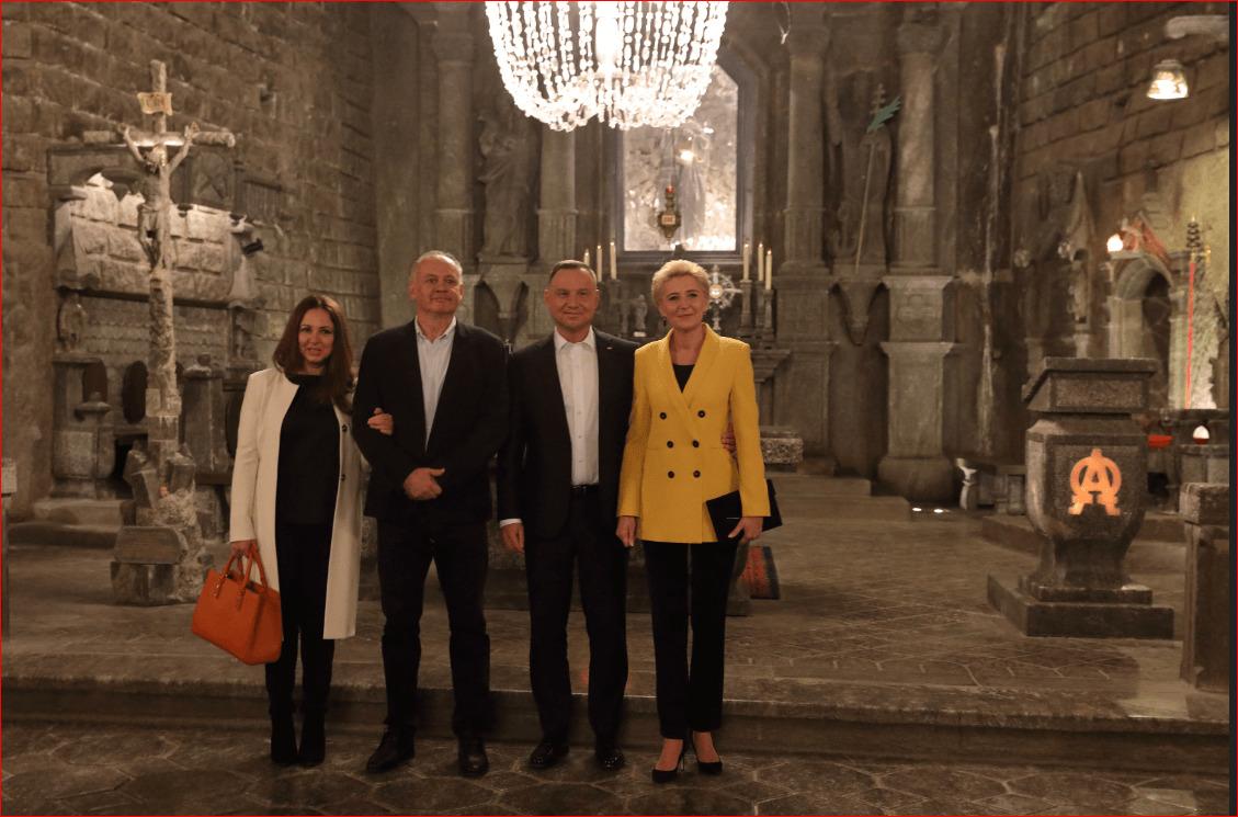 Prezydenci Polski i Słowacji z wizytą w kopalni