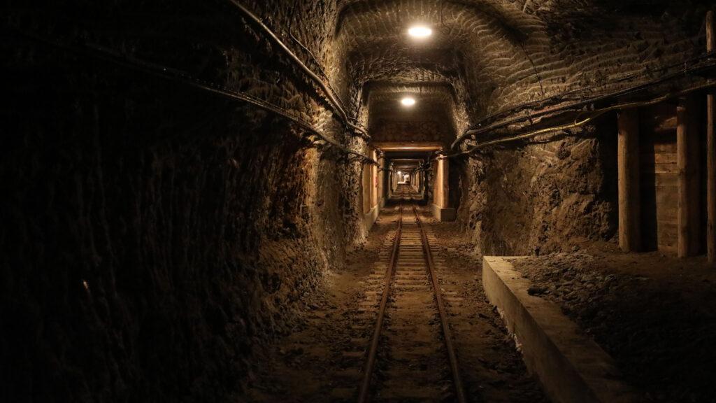 Bieg w kopalni pod ziemią