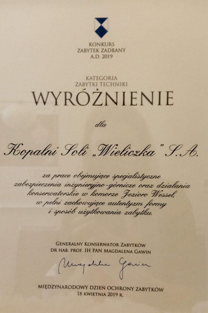 Zabytek zadbany certyfikat do podmiany