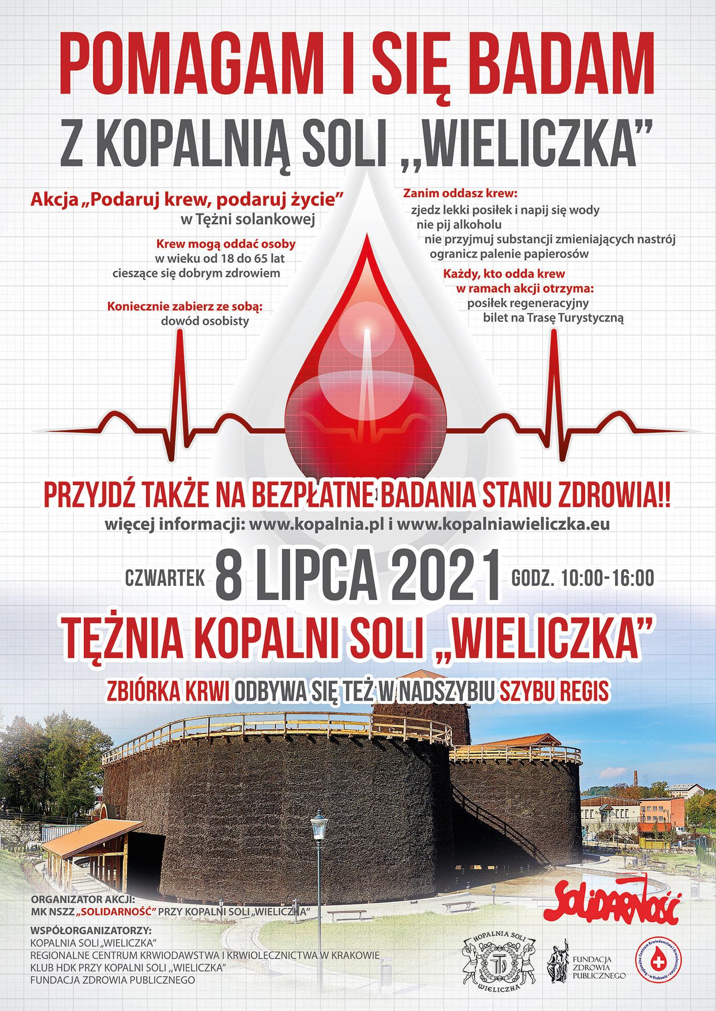 """Plakat promujący zbiórkę """"Podaruj krew, podaruj życie"""""""
