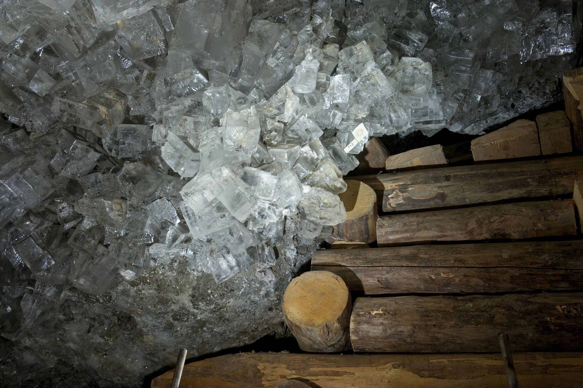 Fragment Groty Kryształowej w wielickiej kopalni