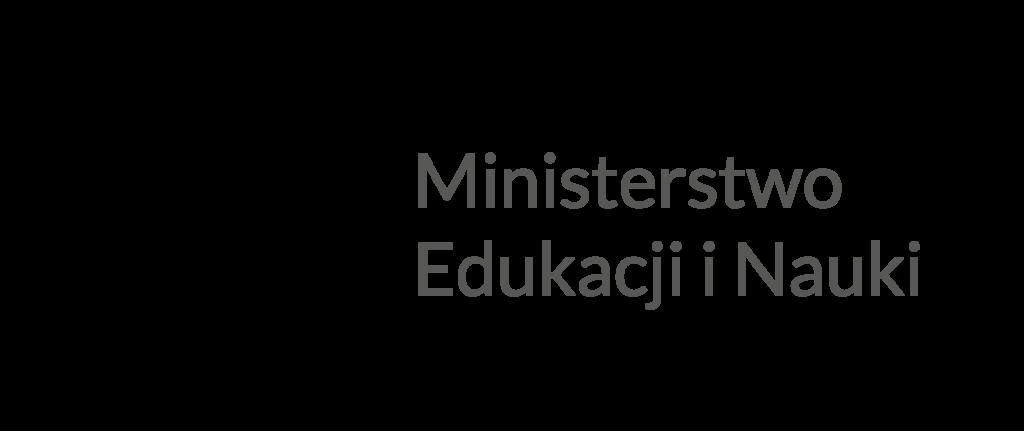 Godło Polski - Orzeł w koronie oraz napis Ministerstwo Edukacji i Nauki