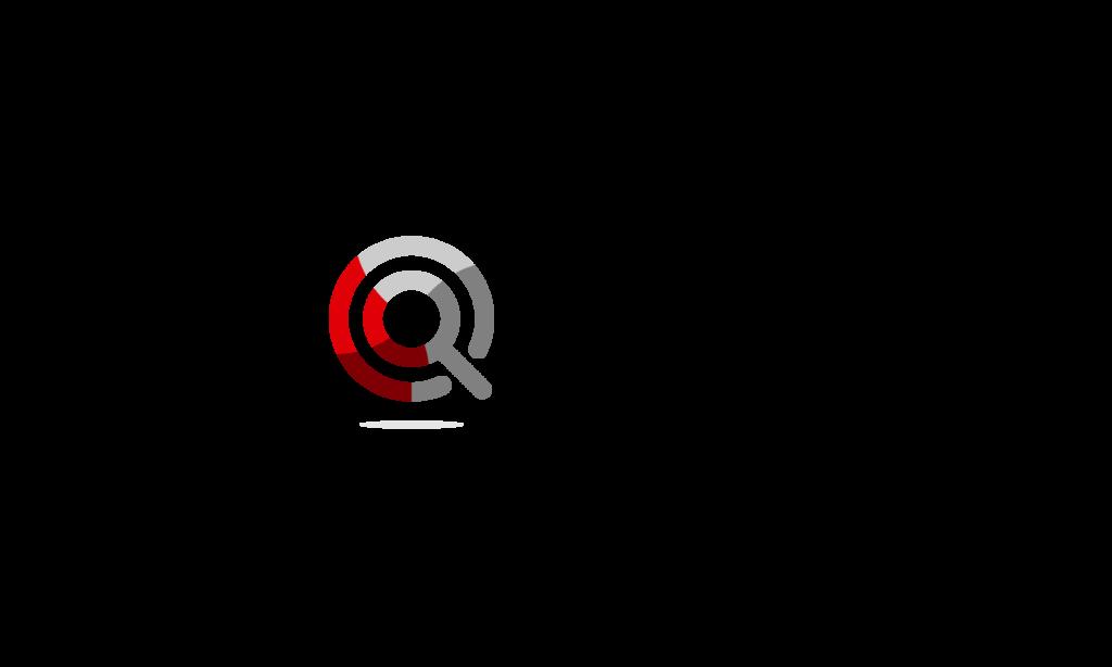 Czarny napis Poznaj Polskę oraz logo programu: symboliczna czerwono-szara lupka